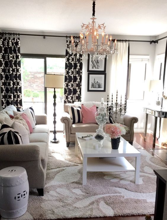 30 refined glam chandeliers to make any space chic digsdigs for Glam modern living room