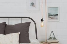 20 a plug-in light with a copper cord is great for a Scandinavian or industrial space