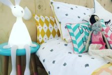 22 sitting bunny lamp is a great companion for kids and they will comfortable with it by the bed