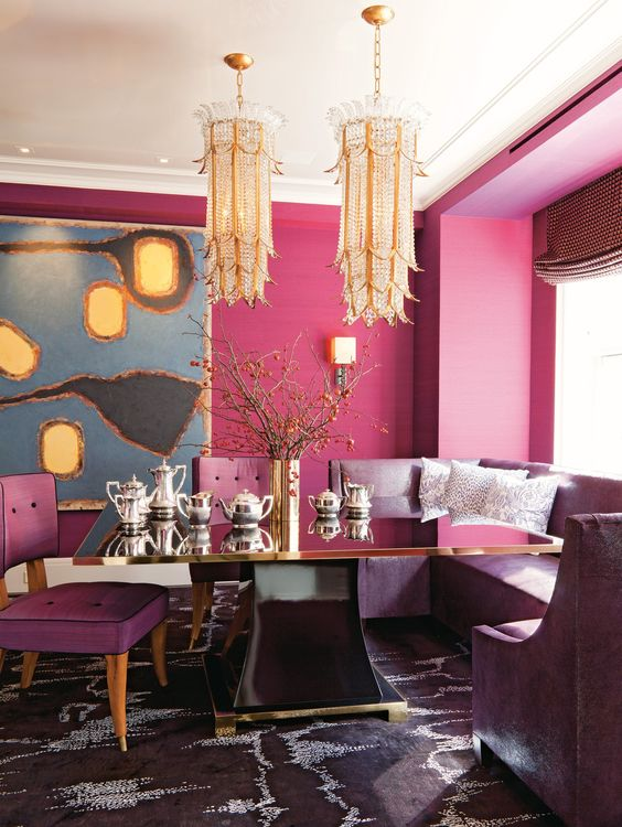 oversized gold and crystal chandeliers for a dramatic feminine space