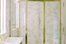 25 a timeless combo of white marble and gilded framing