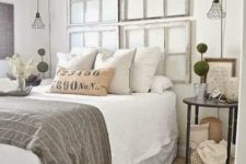 25 industrial black framed hanging lamps for a shabby chic bedroom