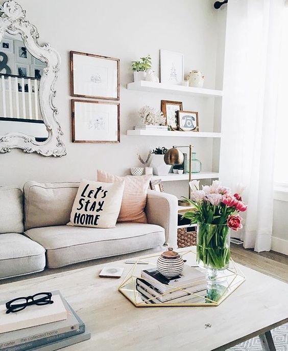 White Floating Shelves Look Awesome In This Modern Space