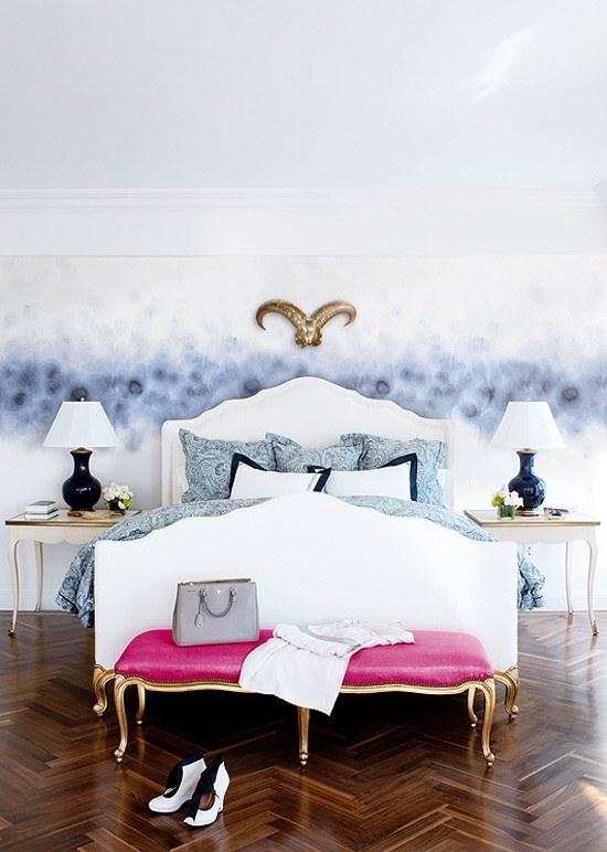 refined white and gold nightstands, legs are the same for the bed and bench