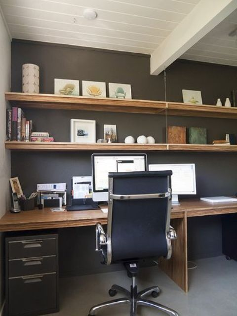 White Wall Desk