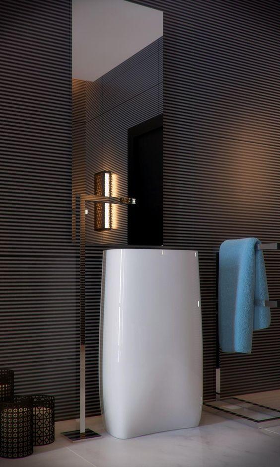 33 modern pedestal bathroom sinks to make a statement for Modern bathroom looks