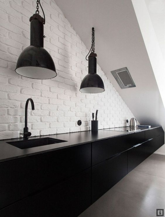 33 masculine kitchen furniture ideas that catch an eye for Black industrial kitchen