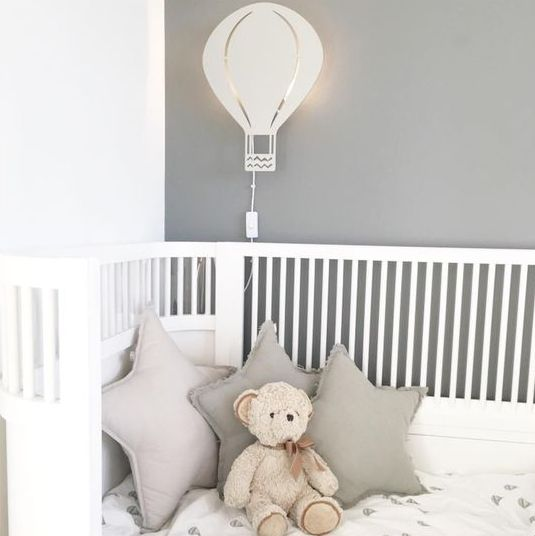 lovely hot air balloon wall lamp is great for a nursery