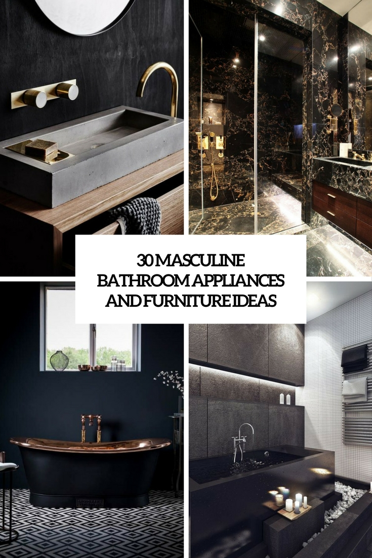 30 Masculine Bathroom Appliances And Furniture Ideas