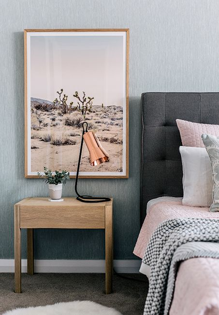 a cute copper table lamp will be a perfect match for any girlish space