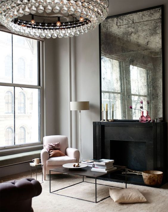 oversized crystal chandelier to make your living room glam