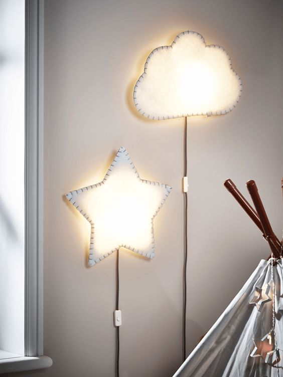 32 creative lamps and lights for kids rooms and nurseries for Lights for kids room