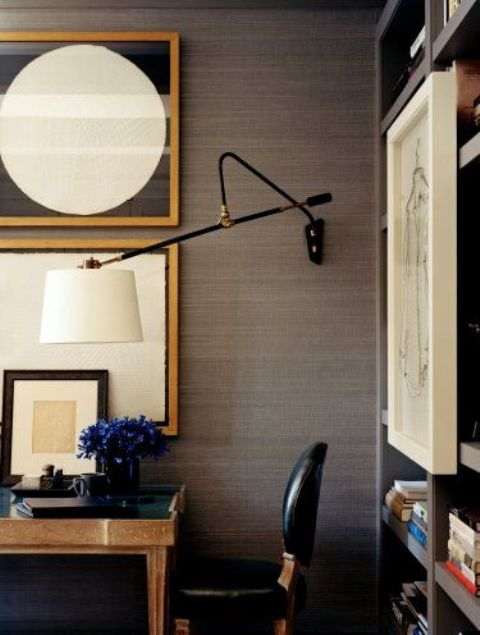 stylish wall sconce with a traditional lampshade