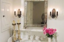 31 vintage mirror with a mirrored frame for a refined touch
