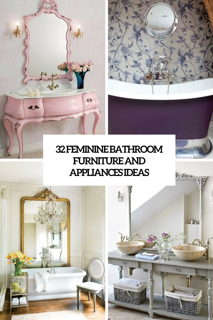 feminine bathroom furniture and appliances ideas cover