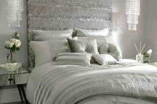 33 gorgeous glam crystal pendants make the bedroom very feminine and chic