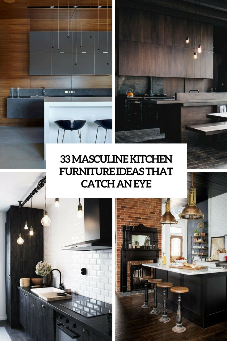masculine kitchen furniture ideas that catch an eye cover & 33 Masculine Kitchen Furniture Ideas That Catch An Eye - DigsDigs