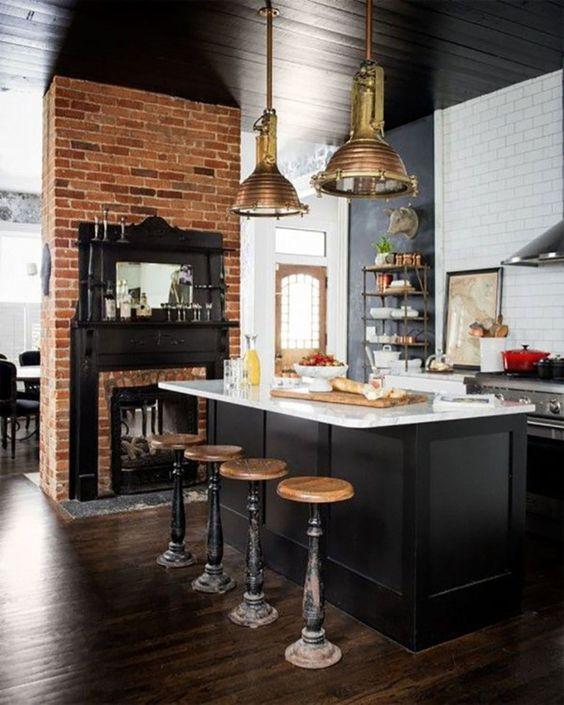 30 Brilliant Kitchen Island Ideas That Make A Statement: 33 Masculine Kitchen Furniture Ideas That Catch An Eye