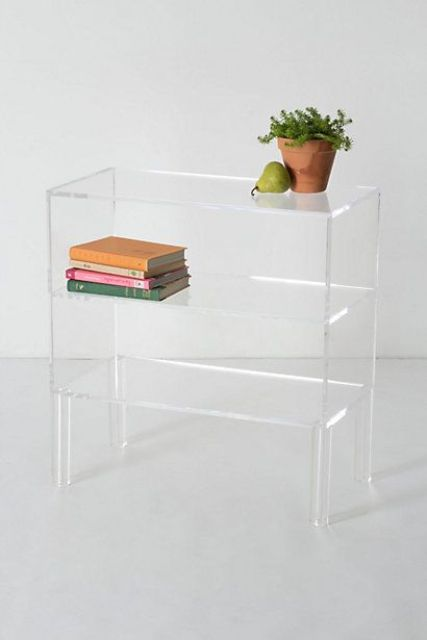 sheer illusion bookshelf for a modern space