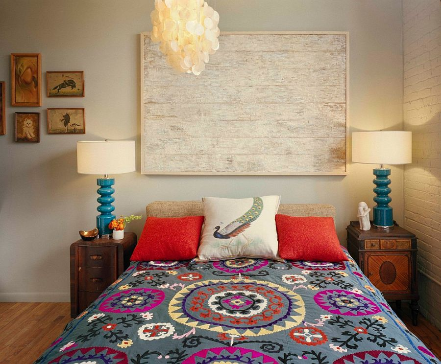refined boho chic bedroom design