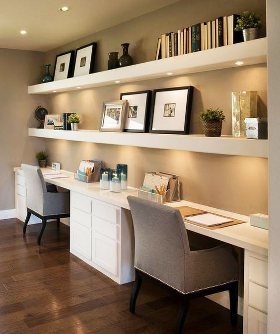 35 floating shelves ideas for different rooms digsdigs - Coolest home office designs ...