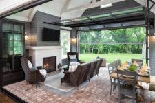 interiors with glass garage doors