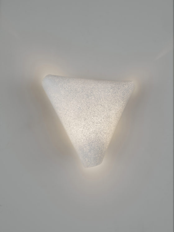 Ballet wall lamp is made of a unique material that creates fluid shapes and soft light for a magical yet peaceful ambience