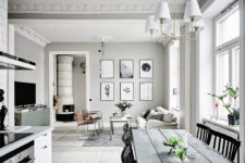01 This adorable light-filled apartment is done in classic Swedish style and if flooded with light