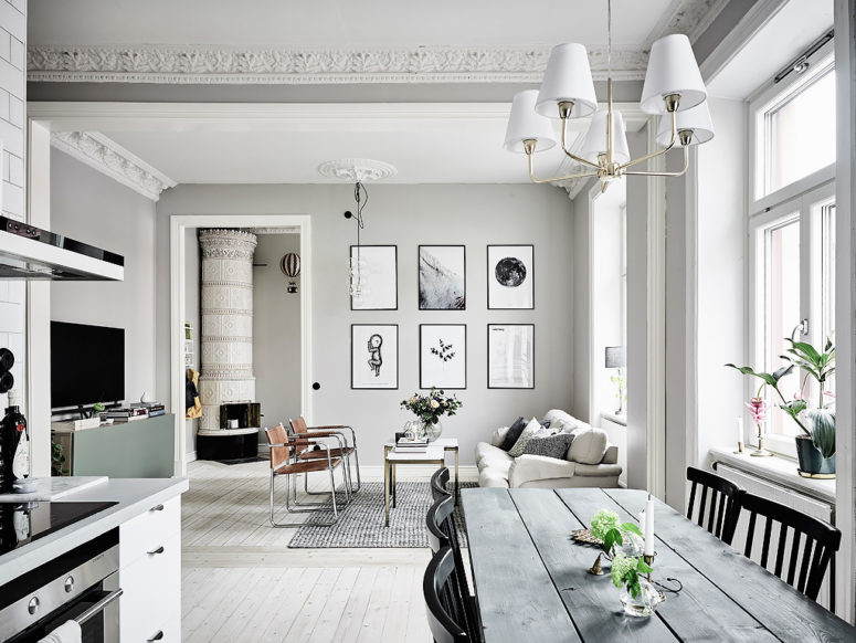 Classic Swedish Style Apartment In Neutral Shades