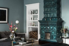 01 This gorgeous Nordic home with glam touches was decorated by its owner, who is a very creative person