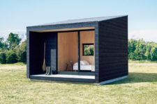 01 This minimalist hut was is very compact and can be placed wherever you want