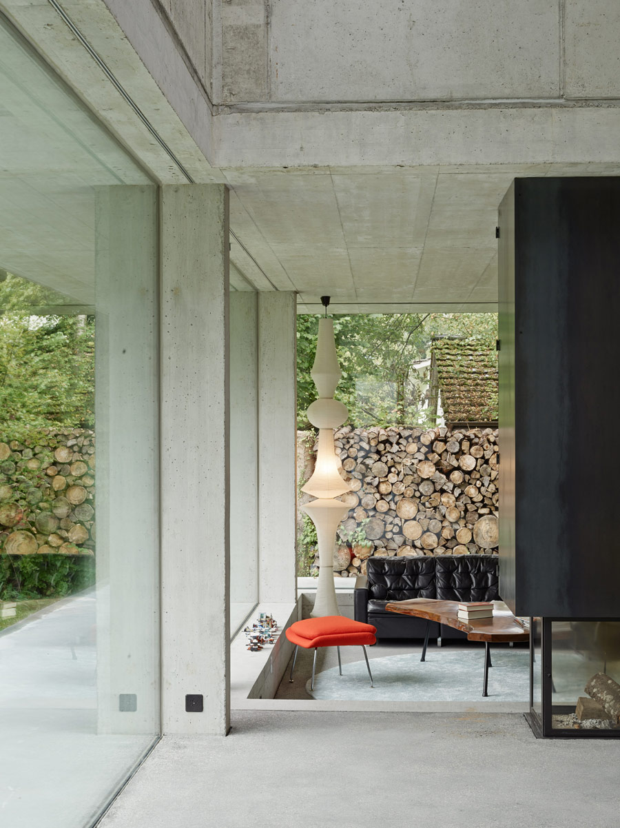 This modern house is done in rough concrete and it's a fine example how cool an industrial dwelling can look