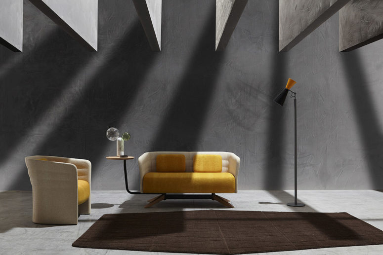 the Cell collection consists of different furniture pieces that allow you feeling comfy and cozy