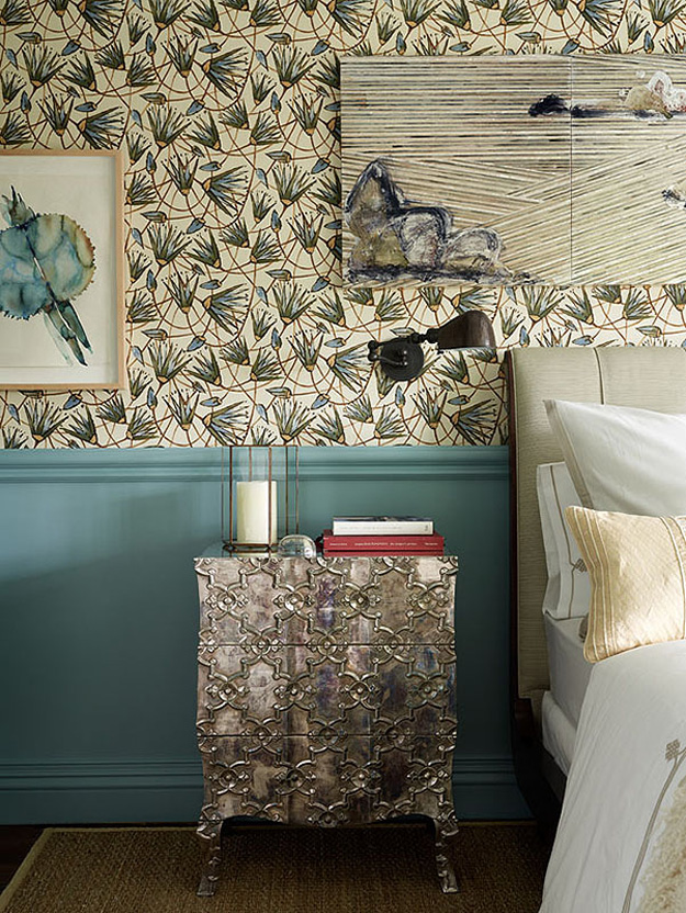 The bedside piece are mismatching, this a Morocco-inspired cabinet