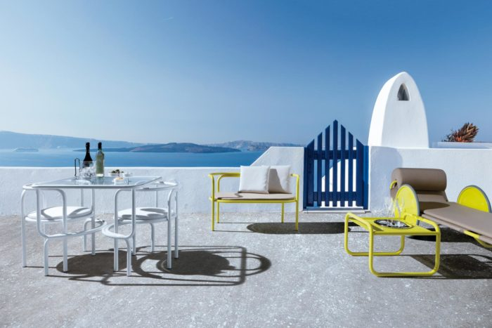 Create your own outdoor space using different pieces of the collection