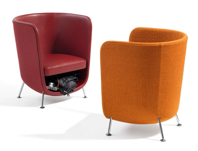 Intended mostly for public spaces, Pocket can be also used at home for a cool look and comfort