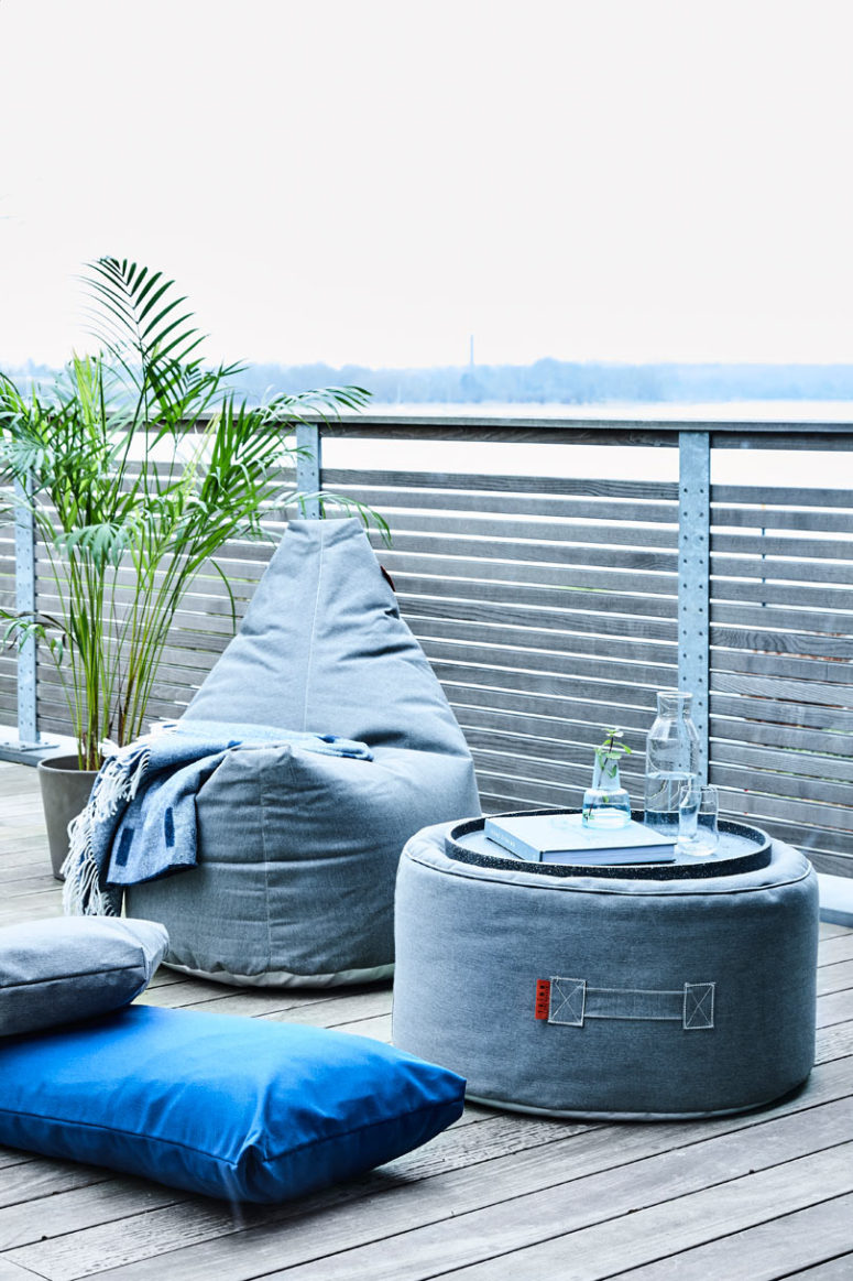 There are various colors available and simple shapes allow fitting many outdoor areas
