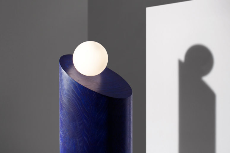 The ambiguous scale and striking silhouettes of the pieces give them an architectural quality