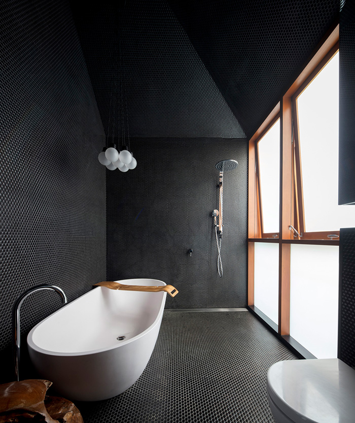 Amazing Gray Slate Bathroom Floor Design Ideas