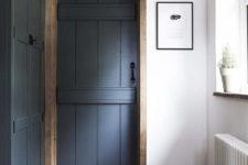 dark interior door