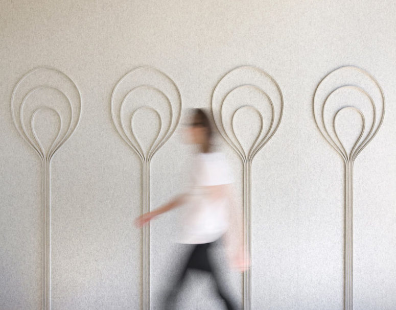 Bulb panels remind of real bulbs with its balloon-like forms
