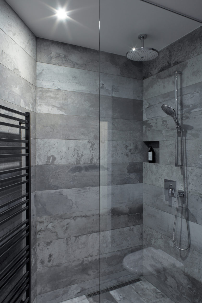 There's also a lovely texture that defines the shower walls and lots of other design elements