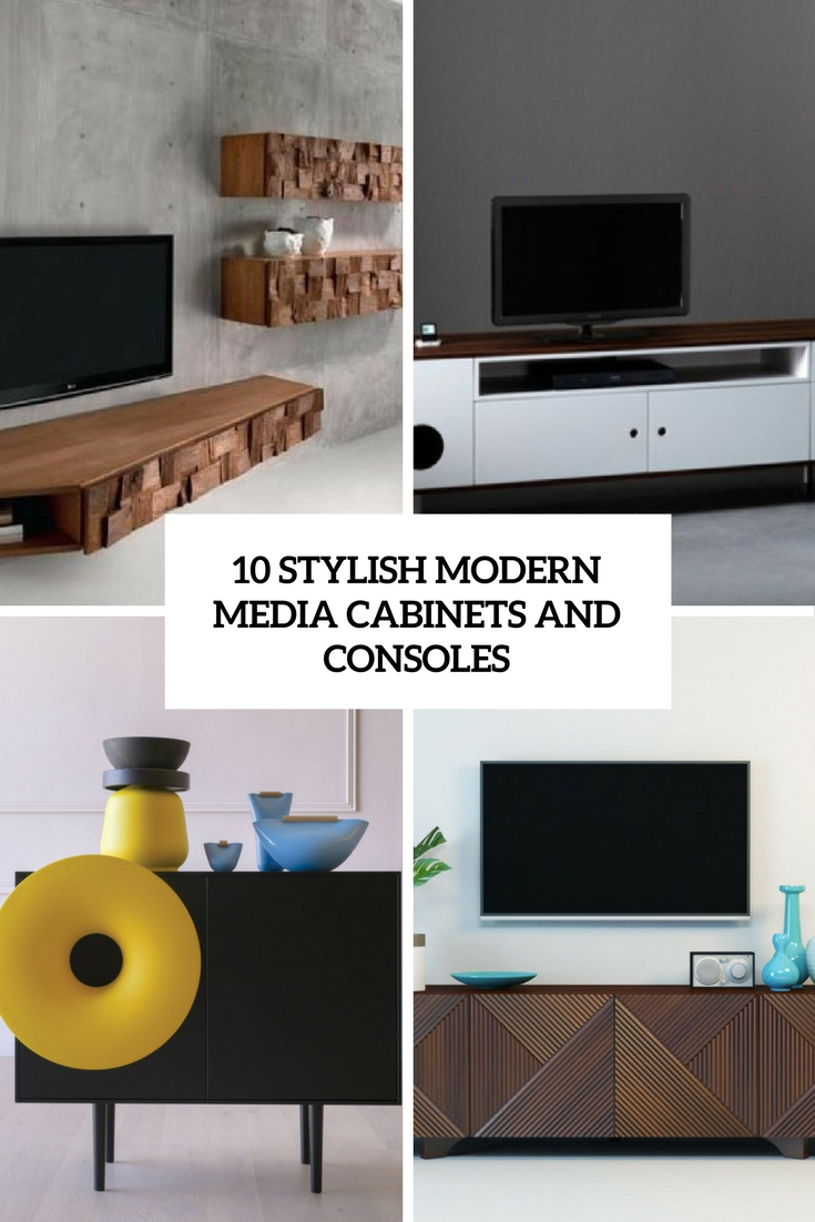 stylish modern media cabients and consoles cover