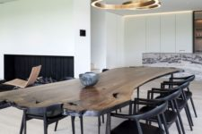 13 a live edge dining table with black legs