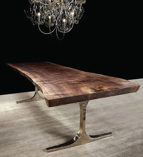 Dark Wood Center Table
