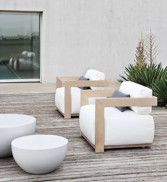 31 stylish modern outdoor furniture ideas digsdigs for Modern patio chairs