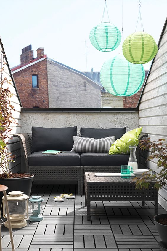by combining different seating sections you can create a sofa in a shape and size that perfectly suits your outdoor space