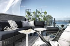 19 Kungsholmen sofa and seats turn this space into an outdoor oasis