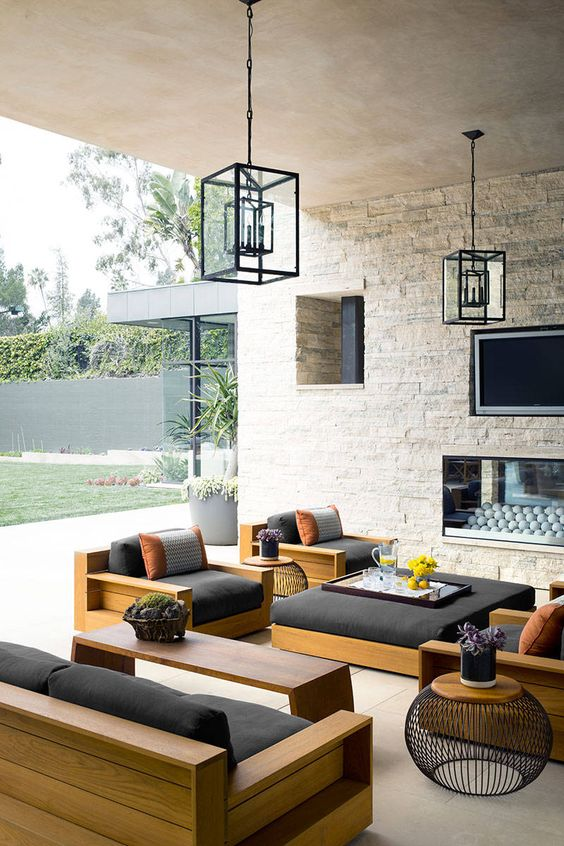 31 Stylish Modern Outdoor Furniture Ideas - DigsDigs