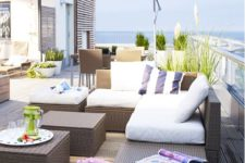 22 Arholma set with a sofa, benches and stools is an ideal thing for a modern terrace